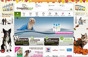 Croquetteland.com : votre animalerie en ligne !